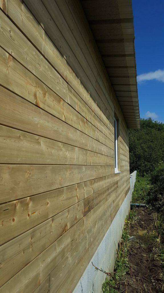 Travaux d'agrandissement avec ossature bois sur Froidfond.